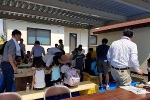 炎天下の夏休み親子工作教室
